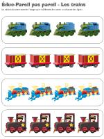 Éduc-Pareil pas pareil-Les trains