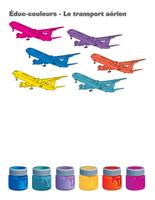 Éduc-couleurs-Le transport aérien