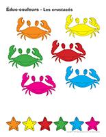Éduc-couleurs-Les crustacés