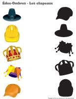 Éduc-ombre - Les chapeaux