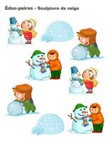 Éduc-paires-Sculpture de neige