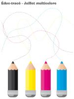 Éduc-tracé-Juillet multicolore