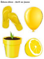 Éduca-déco-Avril en jaune