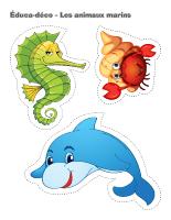 Éduca-déco-Les animaux marins