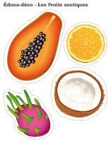 Éduca-déco-Les fruit exotiques