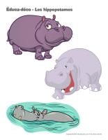 Éduca-déco-Les hippopotames