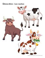 Éduca-déco-Les vaches