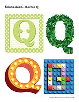 Éduca-déco-Lettre Q