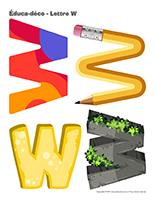 Éduca-déco-Lettre W