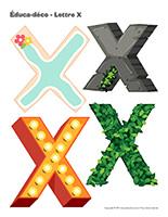 Éduca-déco-Lettre X