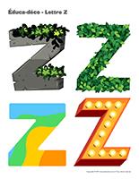 Éduca-déco-Lettre Z