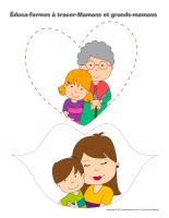 Éduca-formes à tracer-Mamans et grands-mamans