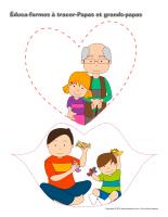 Éduca-formes à tracer-Papas et grands-papas