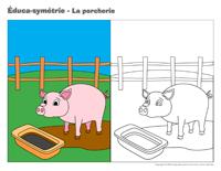 Éduca-symétrie - La porcherie