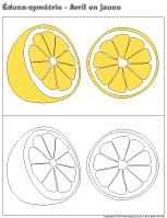 Éduca-symétrie-Avril en jaune