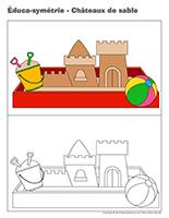 Éduca-symétrie-Châteaux de sable