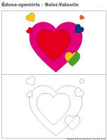 Éduca-symétrie-La Saint-Valentin