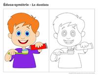 Éduca-symétrie-Le dentiste