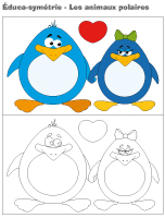Éduca-symétrie-Les animaux polaires