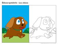 Éduca-symétrie-Les chiens