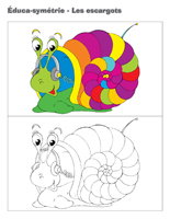 Éduca-symétrie-Les escargots