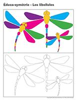 Éduca-symétrie-Les libellules