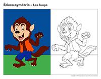 Éduca-symétrie-Les loups