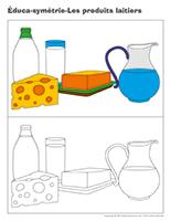 Éduca-symétrie-Les produits laitiers
