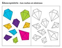 Éduca-symétrie-Les roches et minéraux