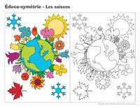 Éduca-symétrie-Les saisons
