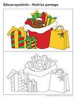 Éduca-symétrie-Noël-Le partage