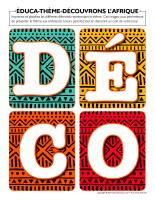 Éduca-thème-Découvrons l'Afrique