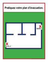 Étapes d'évacuation