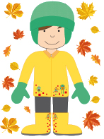 Étapes de l'habillement automne-famille