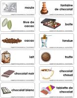 Étiquette-mots - Chocolat