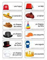 Étiquette-mots-Chapeaux