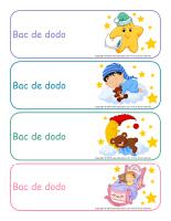 Étiquettes-Bacs de dodo