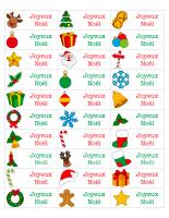 Étiquettes-autocollantes-Noël
