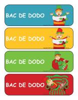 Étiquettes-bacs de dodo-Les lutins