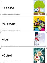 Étiquettes bacs thématiques–série H