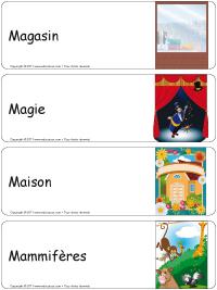 Étiquettes bacs thématiques–série M