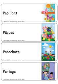 Étiquettes bacs thématiques–série P