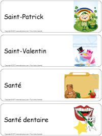 Étiquettes bacs thématiques–série S
