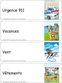 Étiquettes bacs thématiques–série U-V