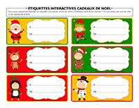 Étiquettes interactives cadeaux de Noël