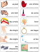 Étiquettes-mots - Des pieds et des mains