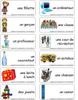Étiquettes-mots - La maternelle