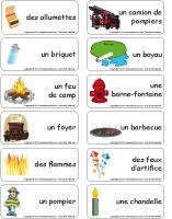 Étiquettes-mots - Le feu