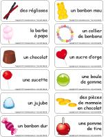 Étiquettes-mots - Les friandises