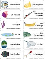 Étiquettes-mots - les poissons